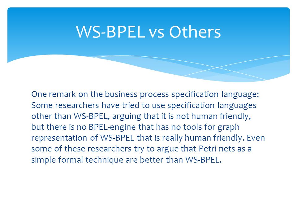 WS-BPEL vs Others