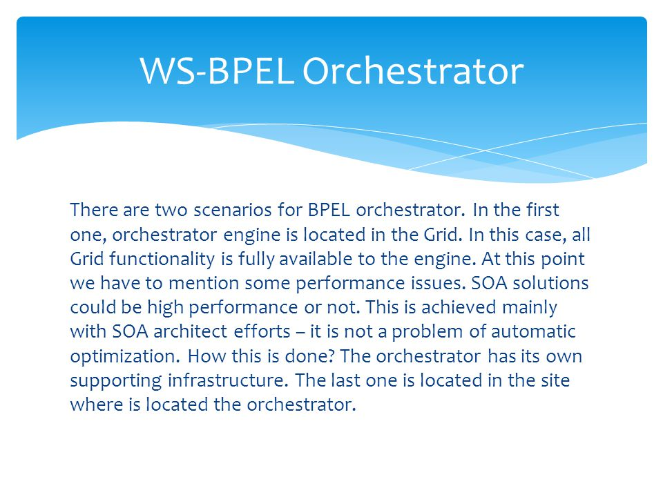WS-BPEL Orchestrator