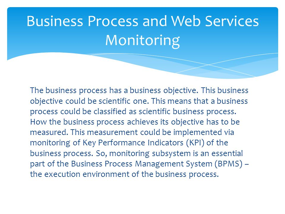 Business Process and Web Services Monitoring