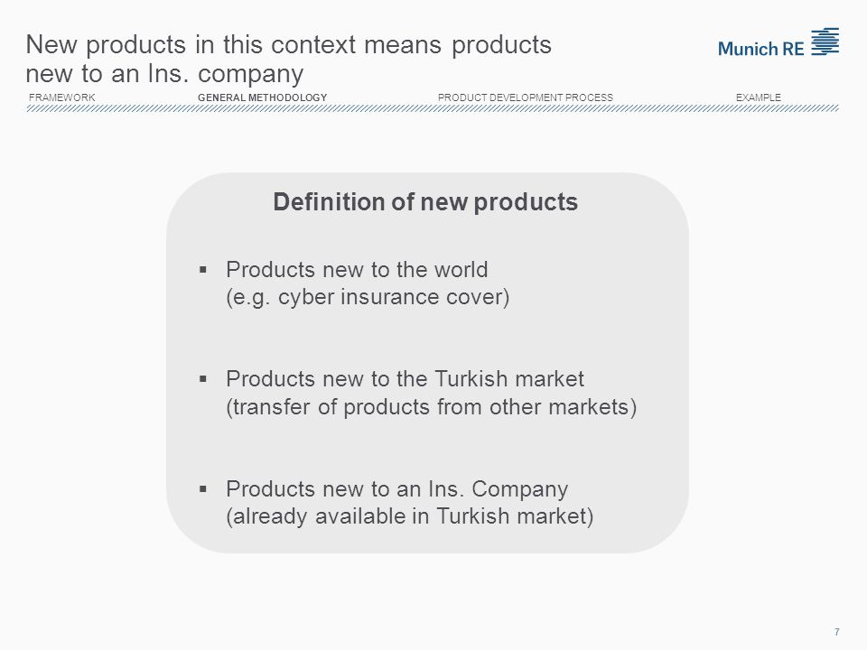 Definition of new products