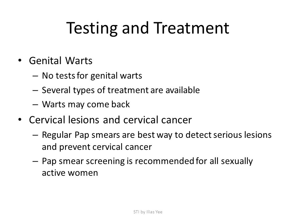 Testing and Treatment Genital Warts