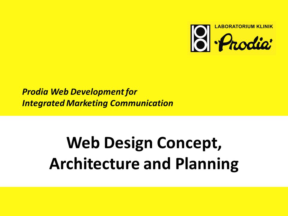 Web Design Concept, Architecture and Planning