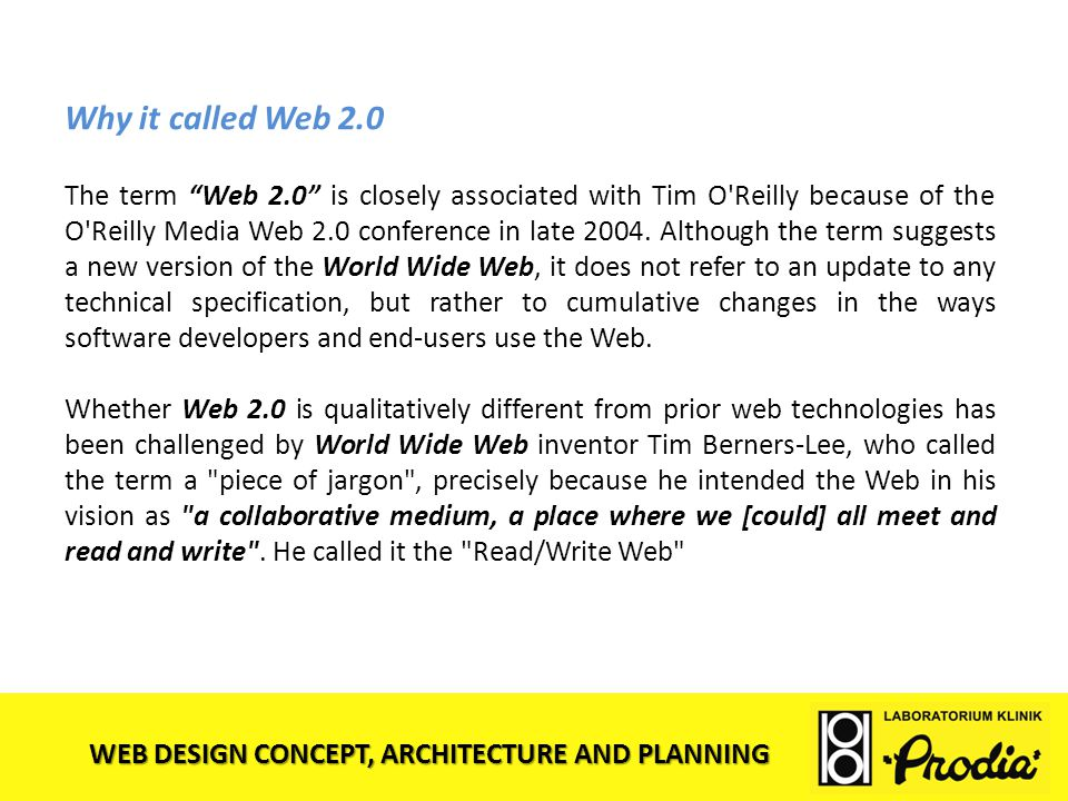 Why it called Web 2.0