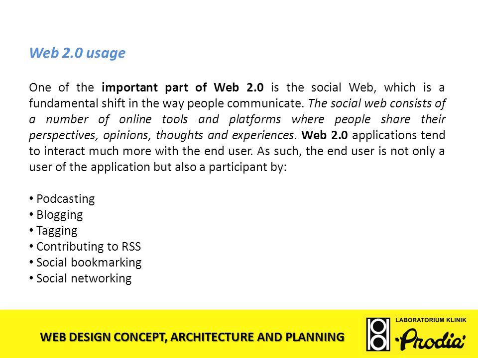 Web 2.0 usage