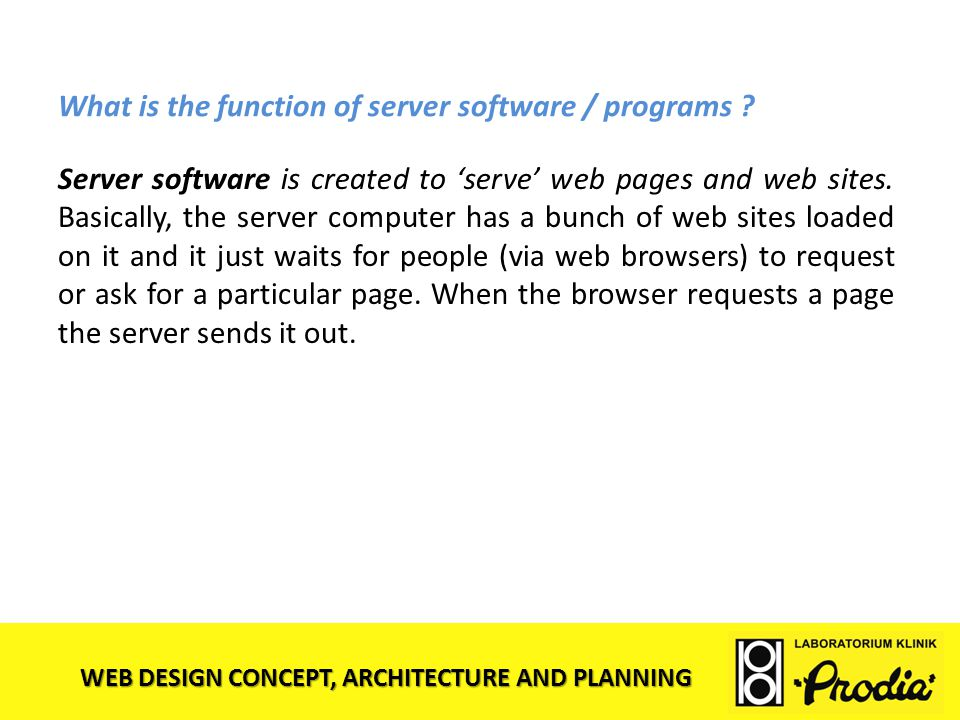 What is the function of server software / programs