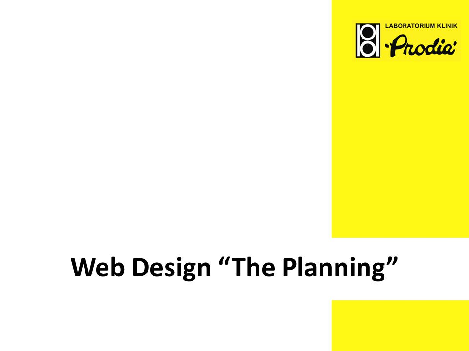 Web Design The Planning