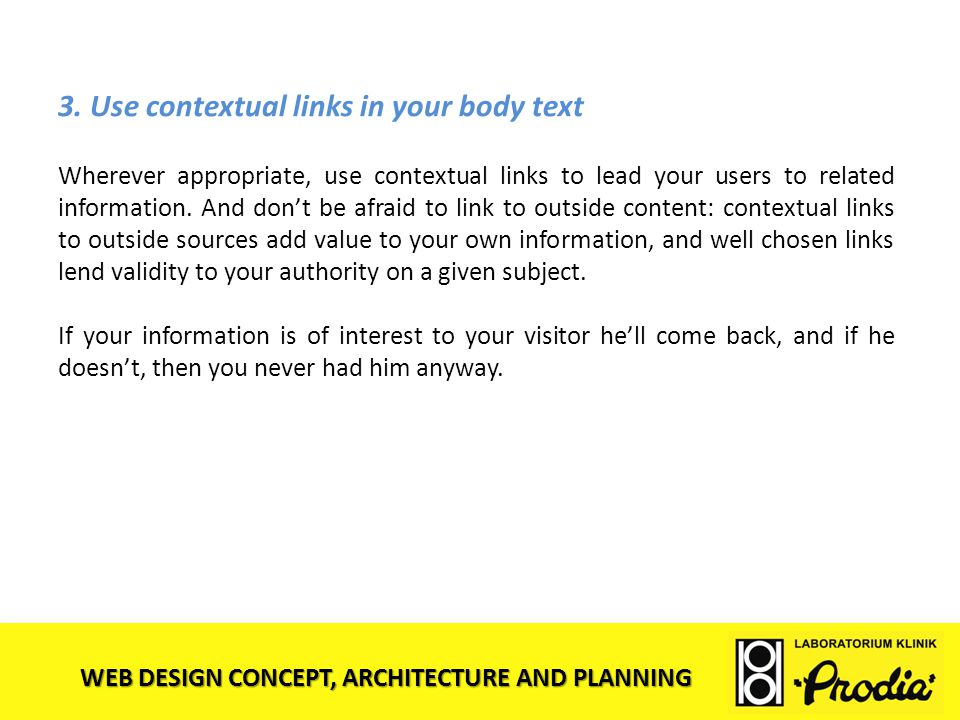 3. Use contextual links in your body text