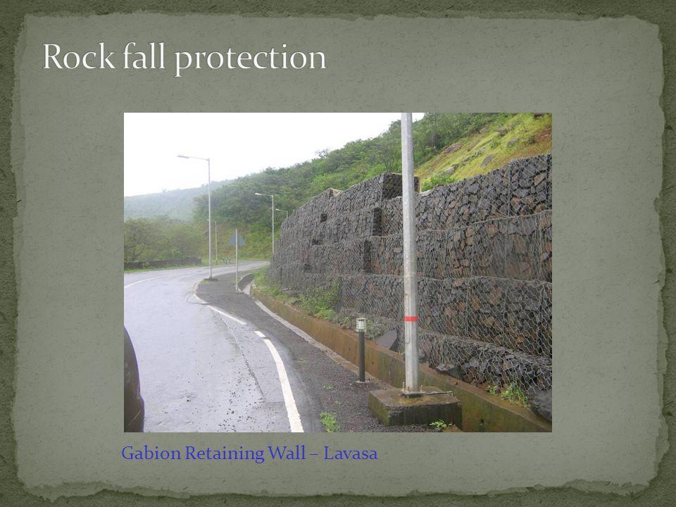 Rock fall protection Gabion Retaining Wall – Lavasa