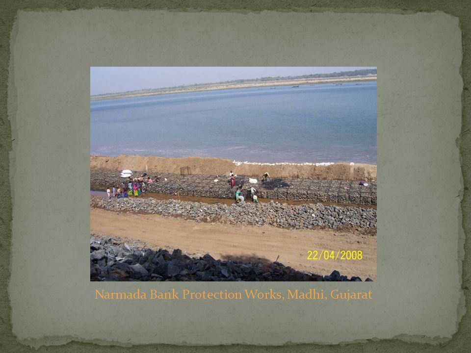 Narmada Bank Protection Works, Madhi, Gujarat