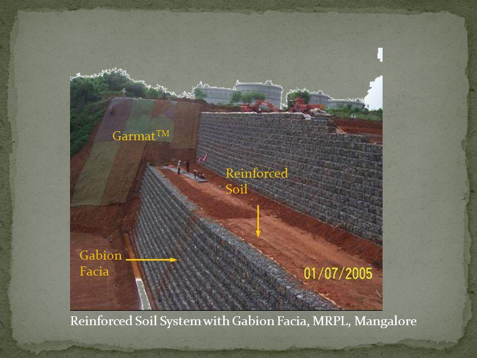 Reinforced Soil System with Gabion Facia, MRPL, Mangalore