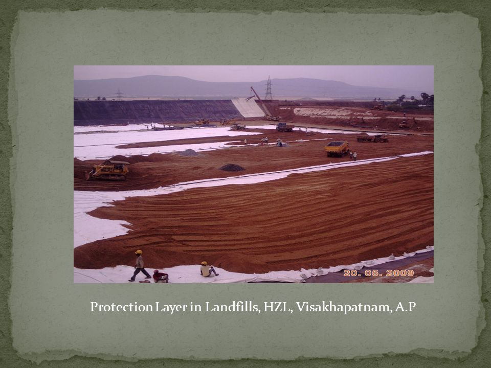 Protection Layer in Landfills, HZL, Visakhapatnam, A.P