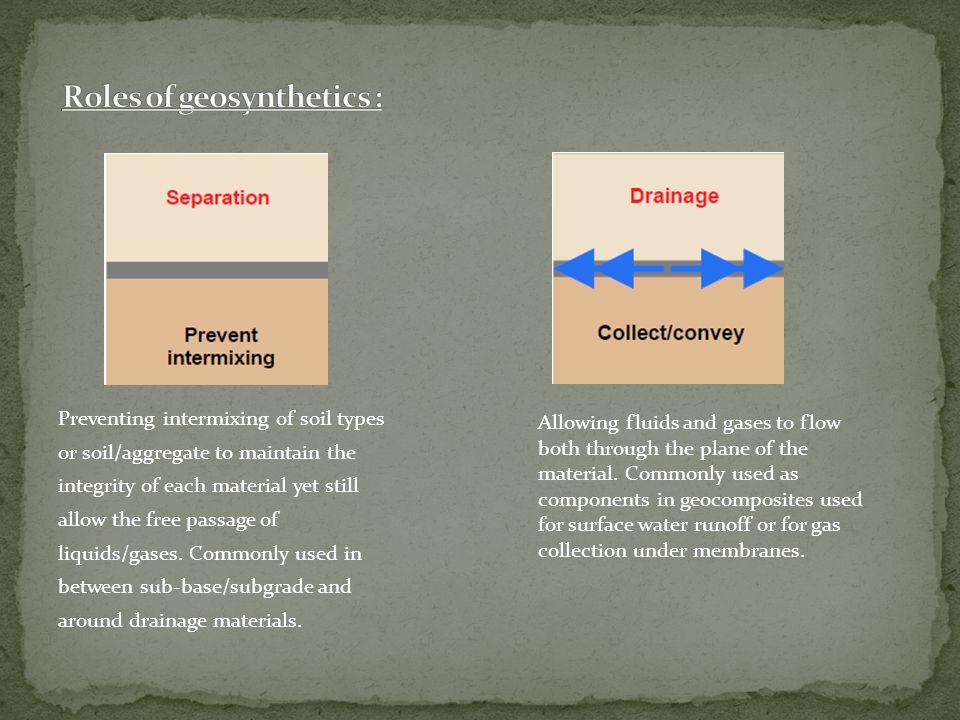 Roles of geosynthetics :