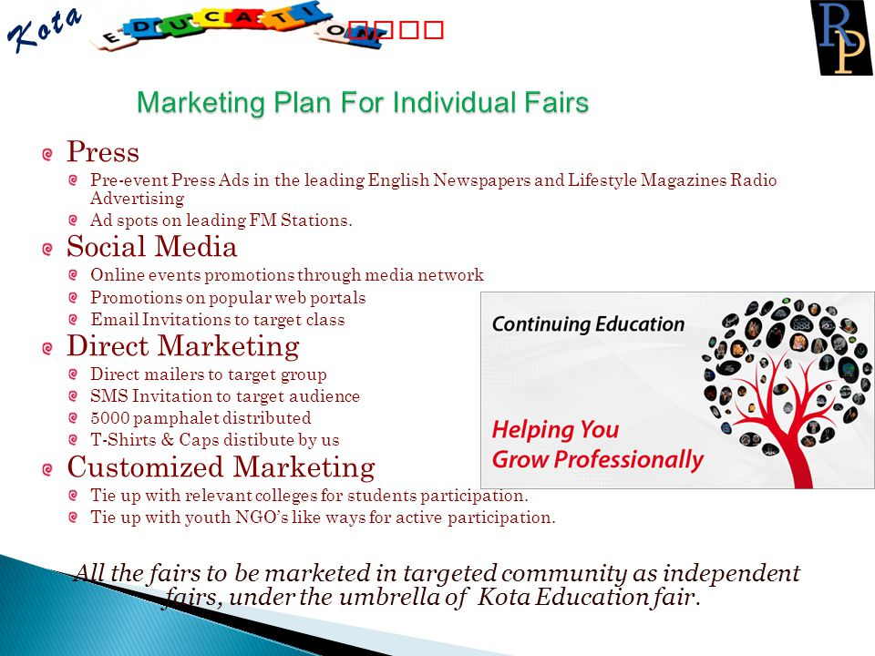 Marketing Plan For Individual Fairs