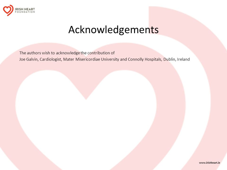 Acknowledgements The authors wish to acknowledge the contribution of