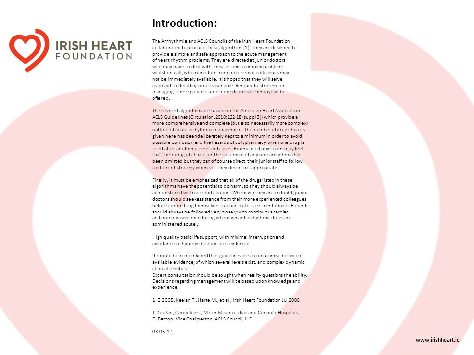 Introduction: www.irishheart.ie
