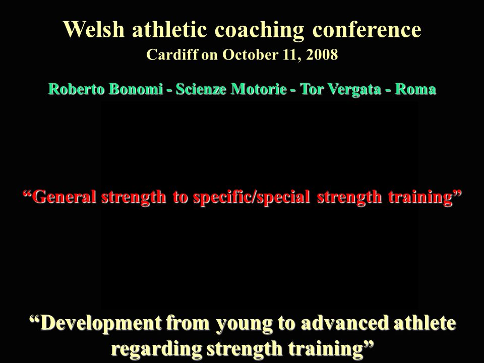 Welsh athletic coaching conference