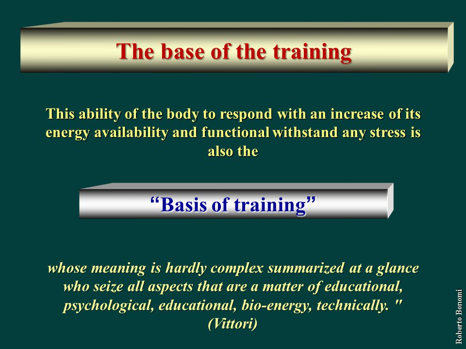 The base of the training