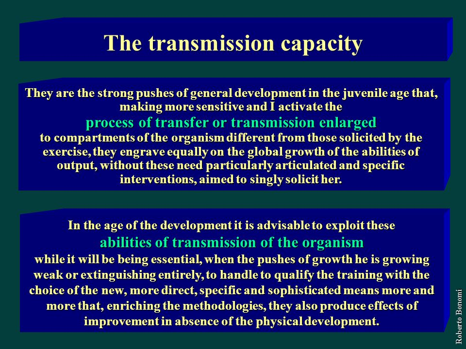 The transmission capacity