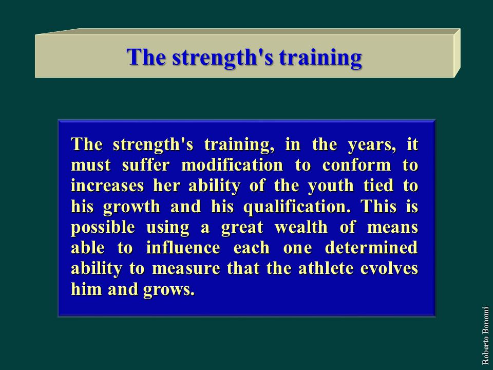 The strength s training