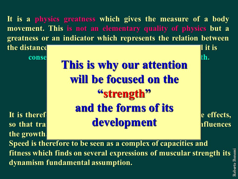 It is a physics greatness which gives the measure of a body movement