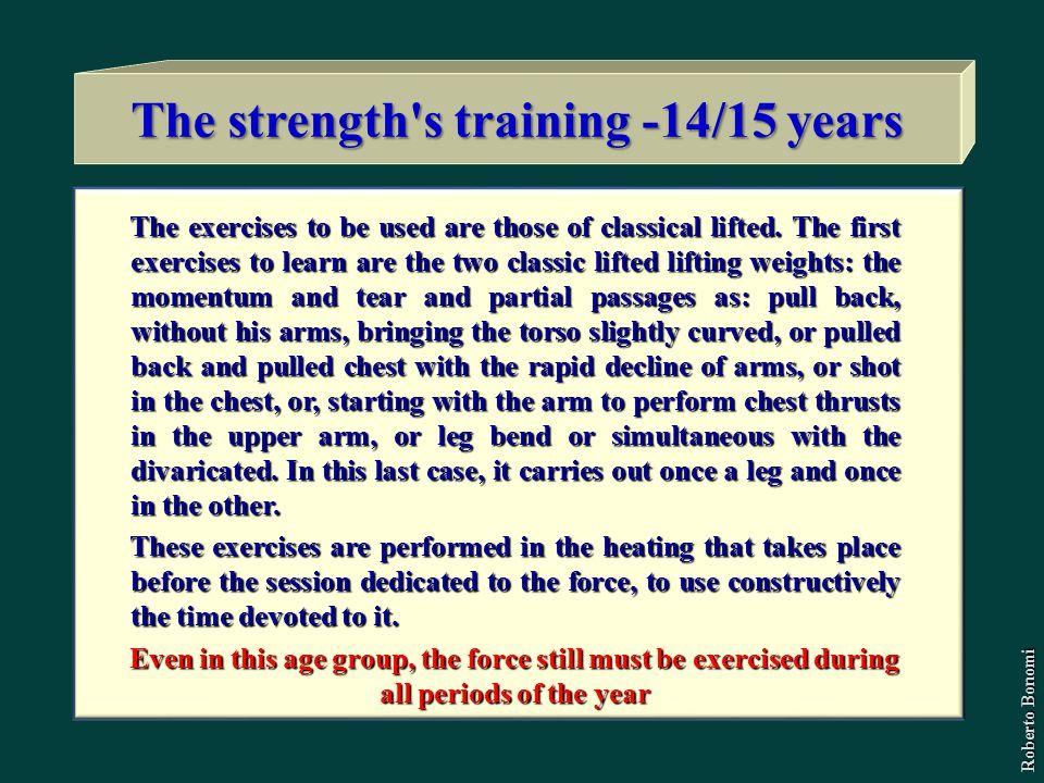 The strength s training -14/15 years