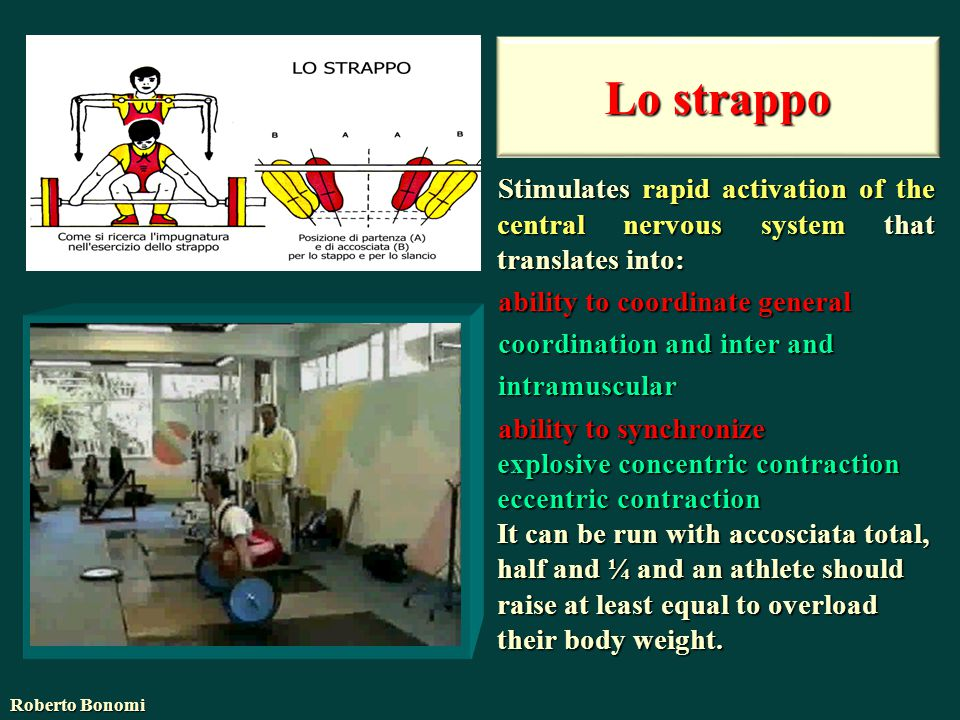 Lo strappo Stimulates rapid activation of the central nervous system that translates into: ability to coordinate general.
