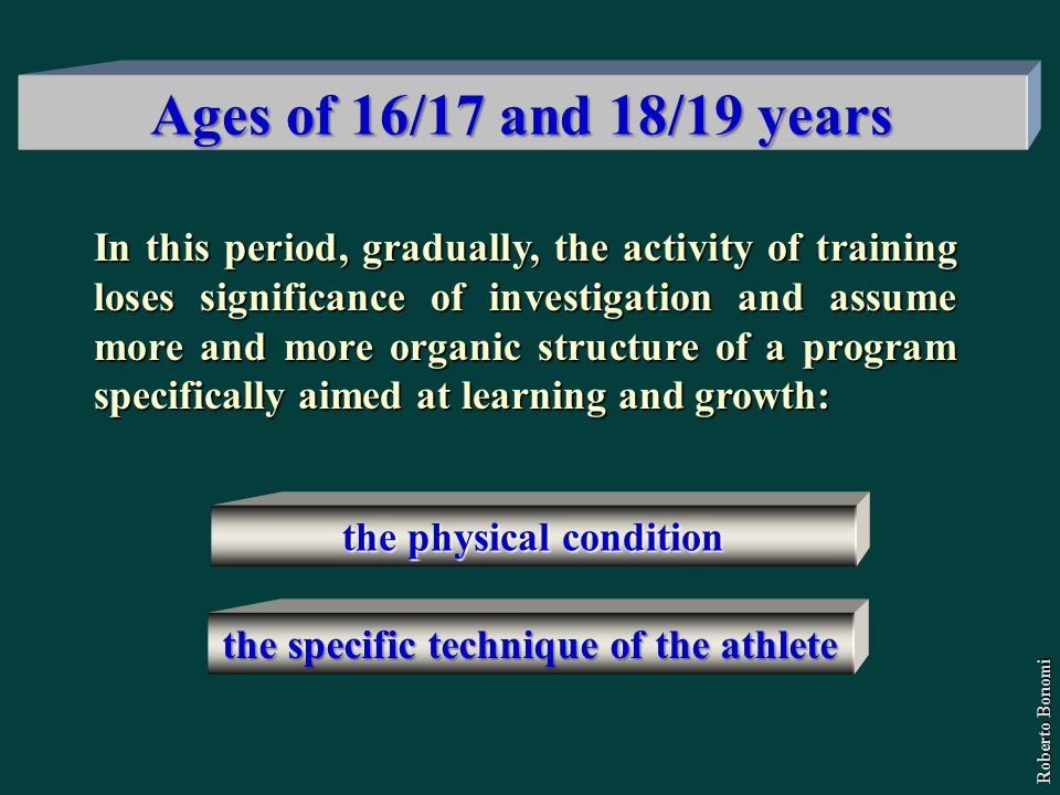 the physical condition the specific technique of the athlete
