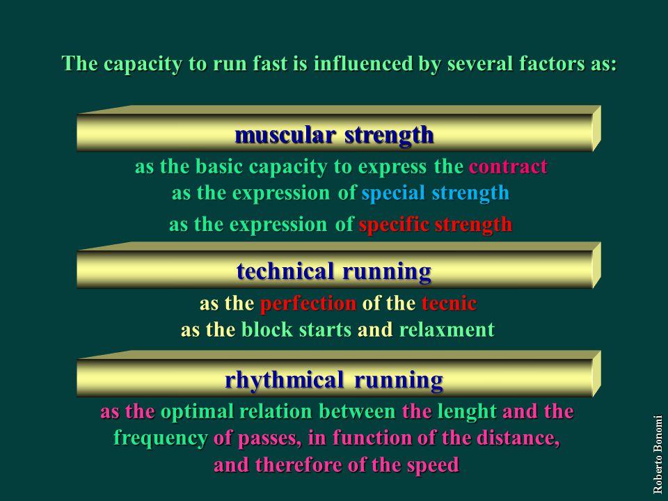 muscular strength technical running rhythmical running