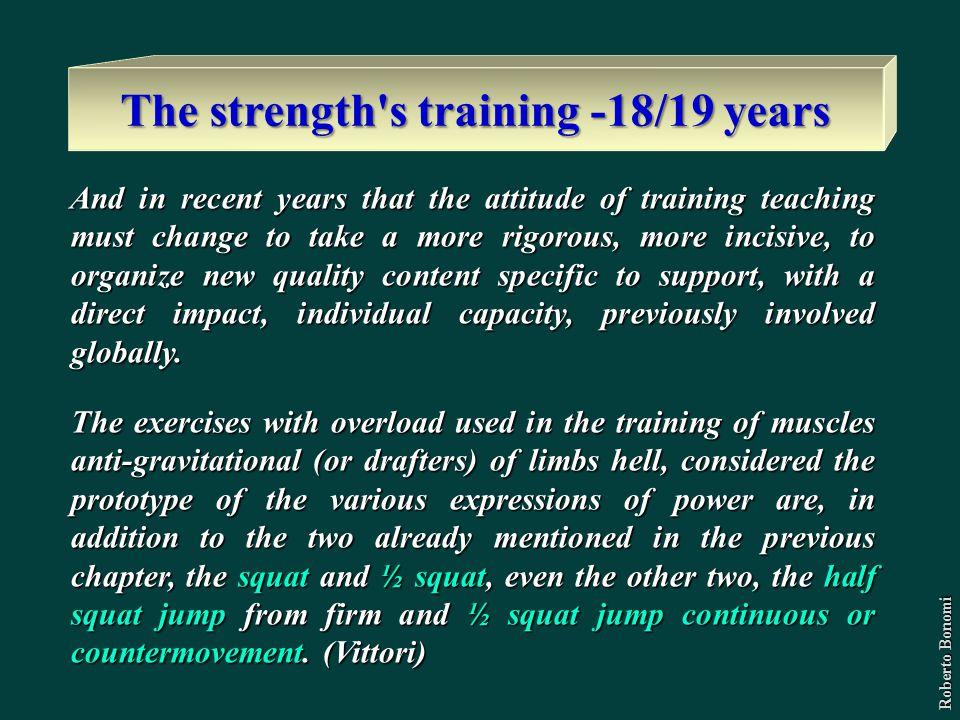The strength s training -18/19 years