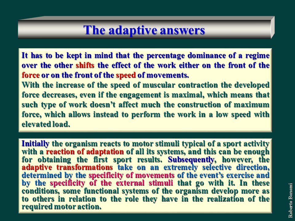 The adaptive answers