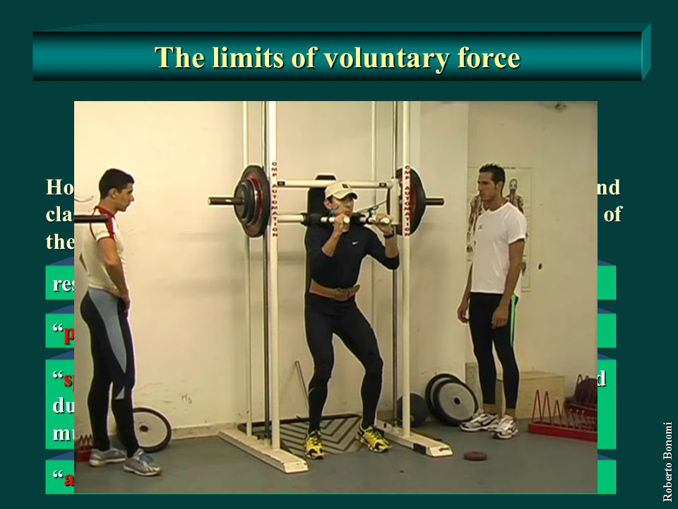 The limits of voluntary force