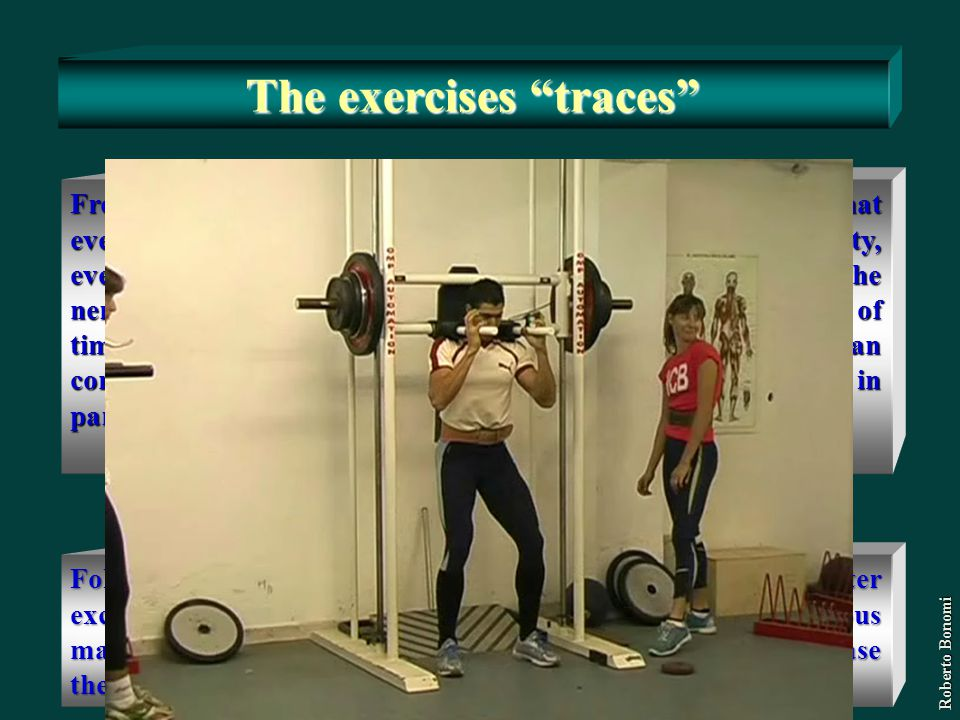 The exercises traces