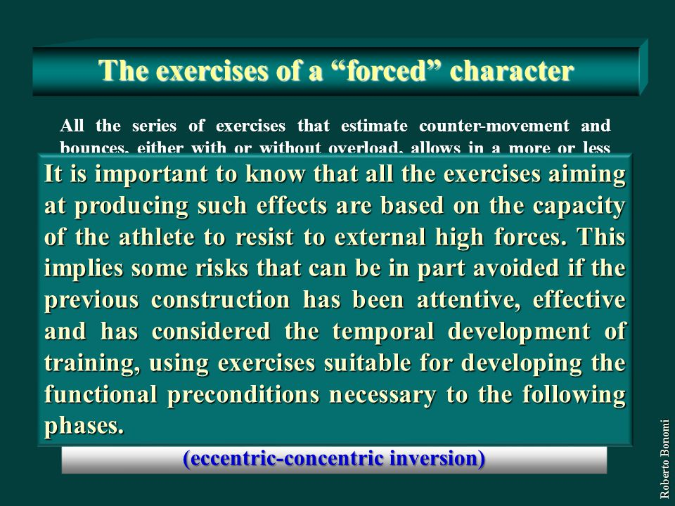 The exercises of a forced character