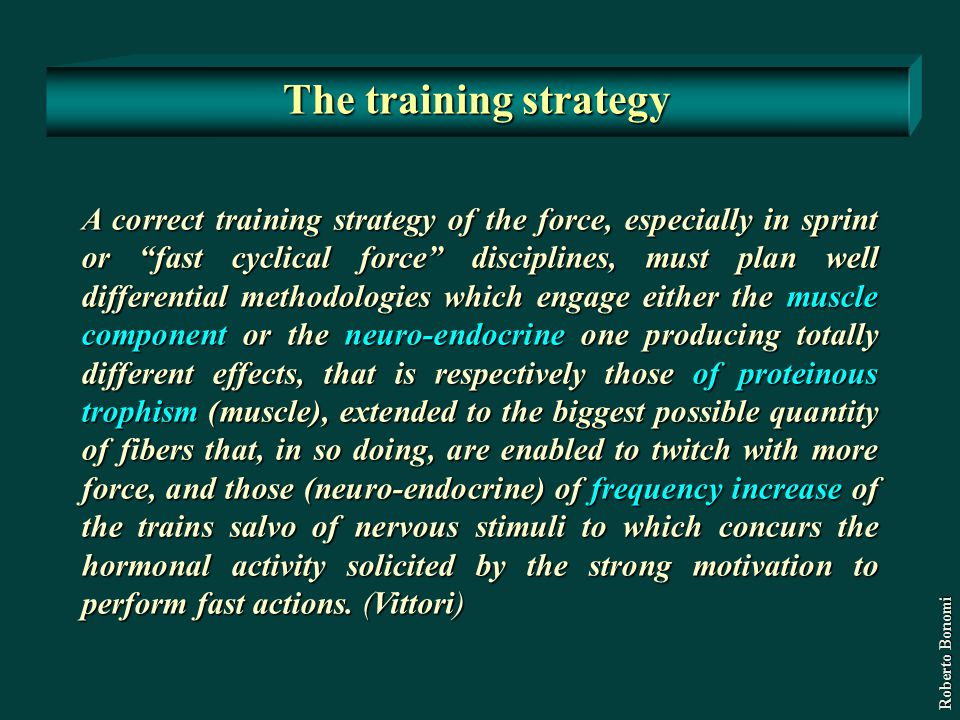 The training strategy