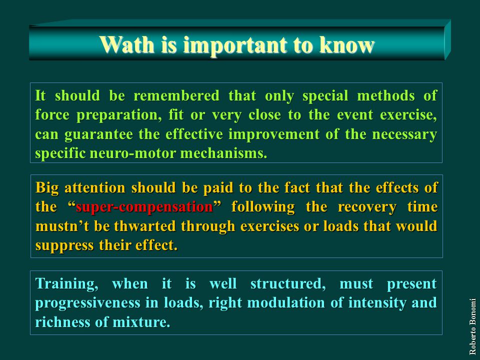 Wath is important to know