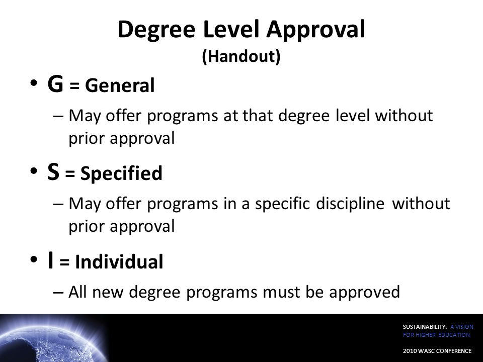 Degree Level Approval (Handout)