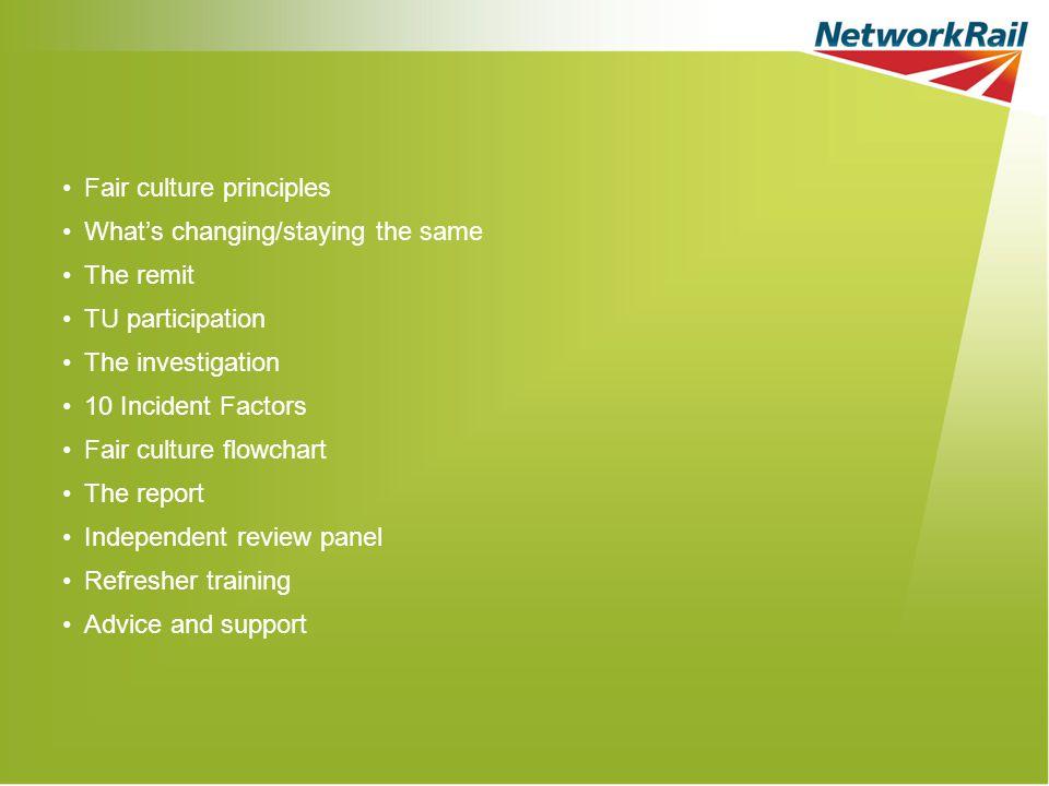 Fair culture principles