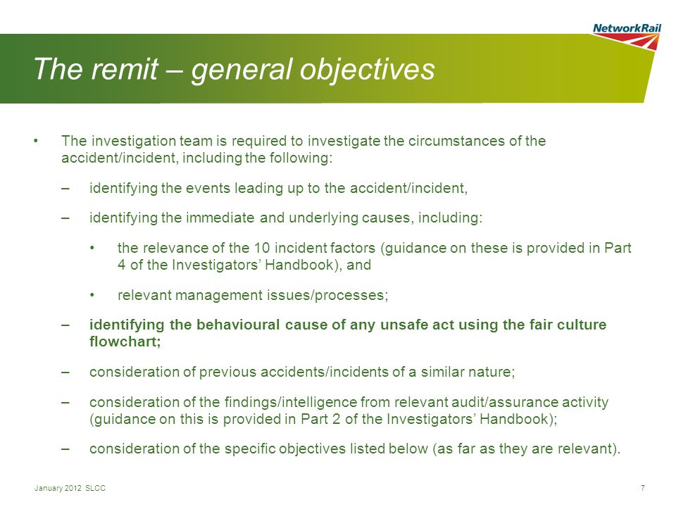 The remit – general objectives