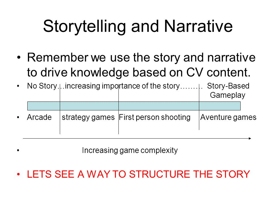 Storytelling and Narrative
