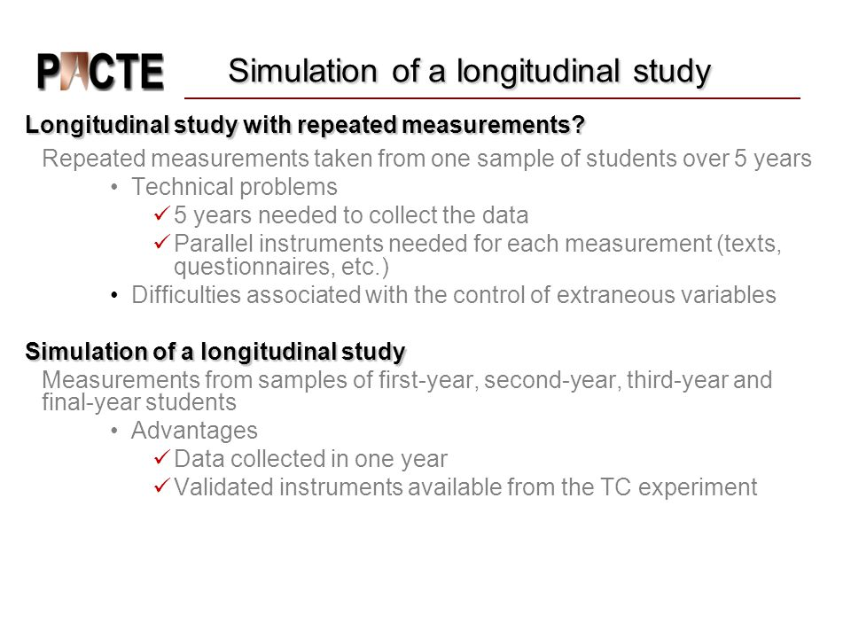 Simulation of a longitudinal study