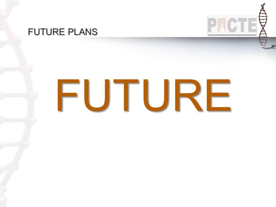 FUTURE PLANS FUTURE