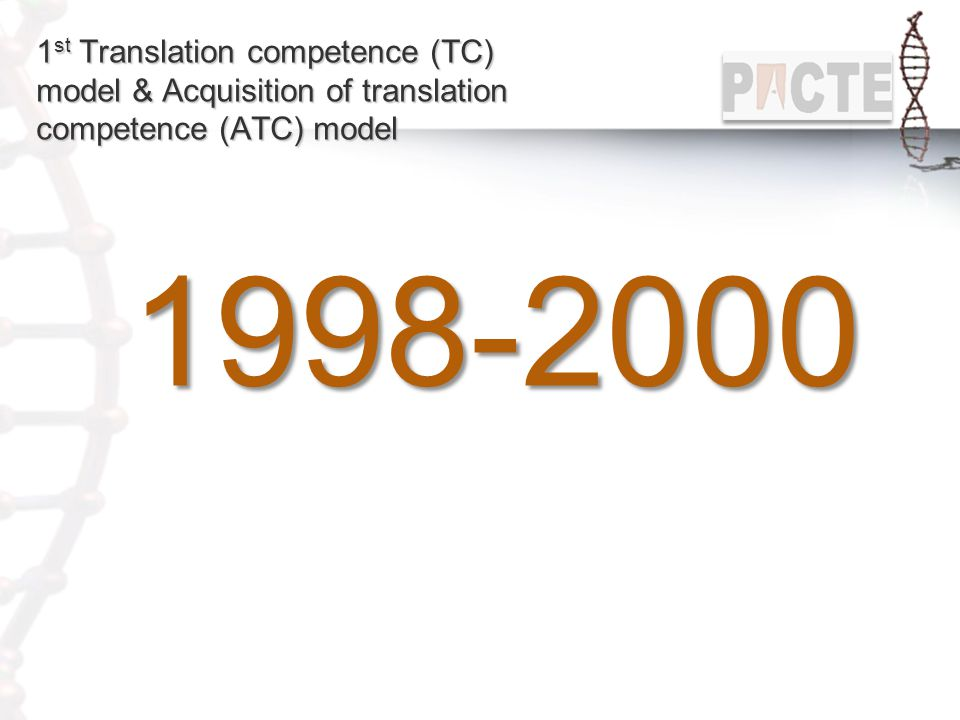 1st Translation competence (TC) model & Acquisition of translation competence (ATC) model