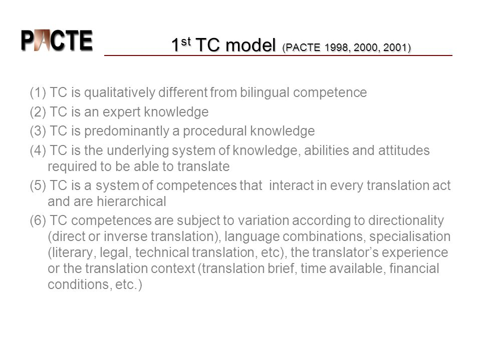(1) TC is qualitatively different from bilingual competence