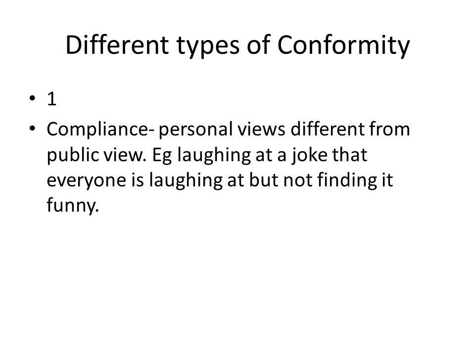 Different types of Conformity