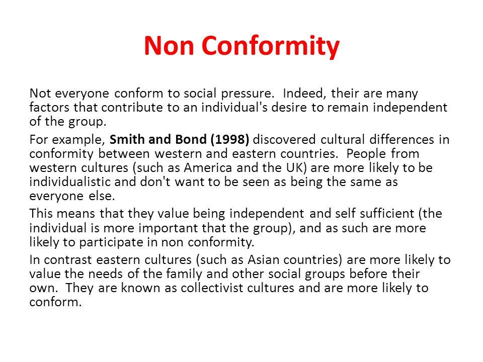 Non Conformity
