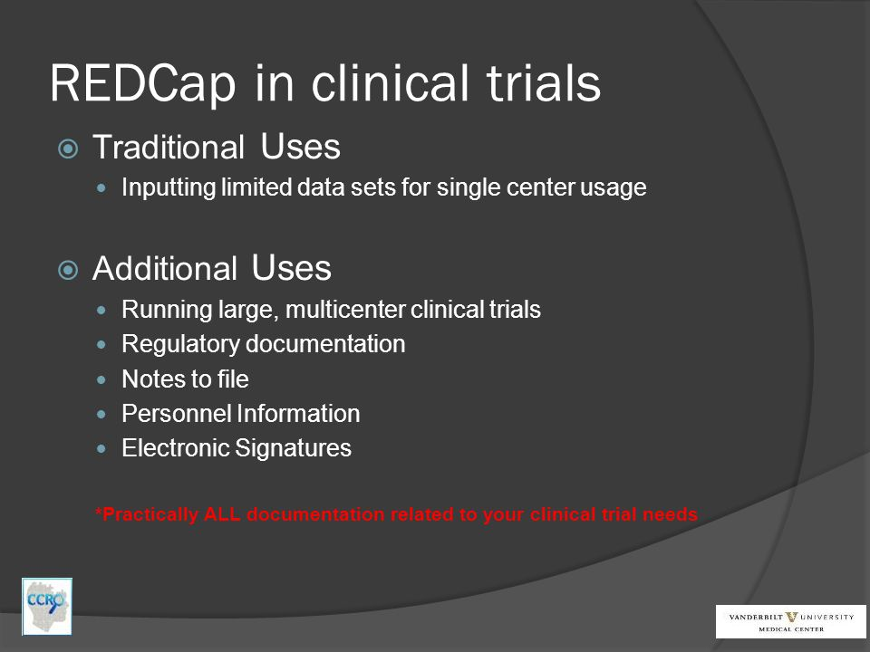 REDCap in clinical trials
