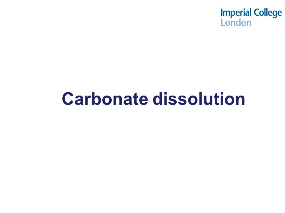 Carbonate dissolution