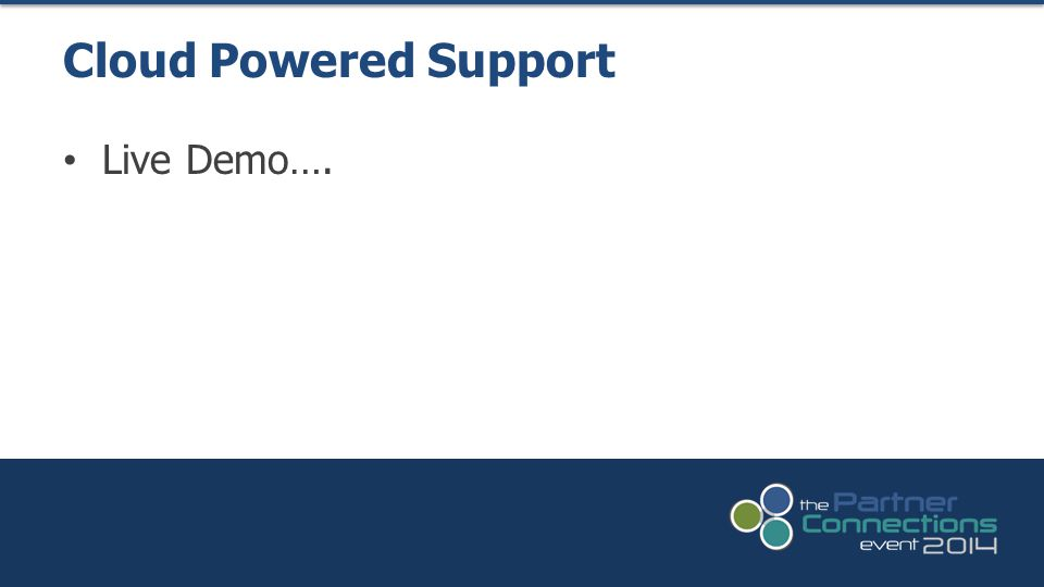 Cloud Powered Support Live Demo….