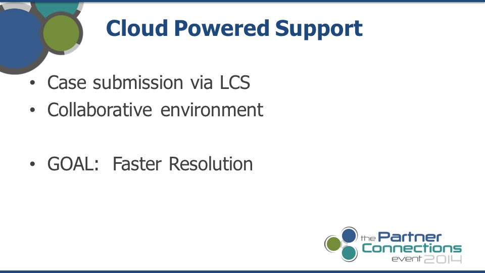 Cloud Powered Support Case submission via LCS