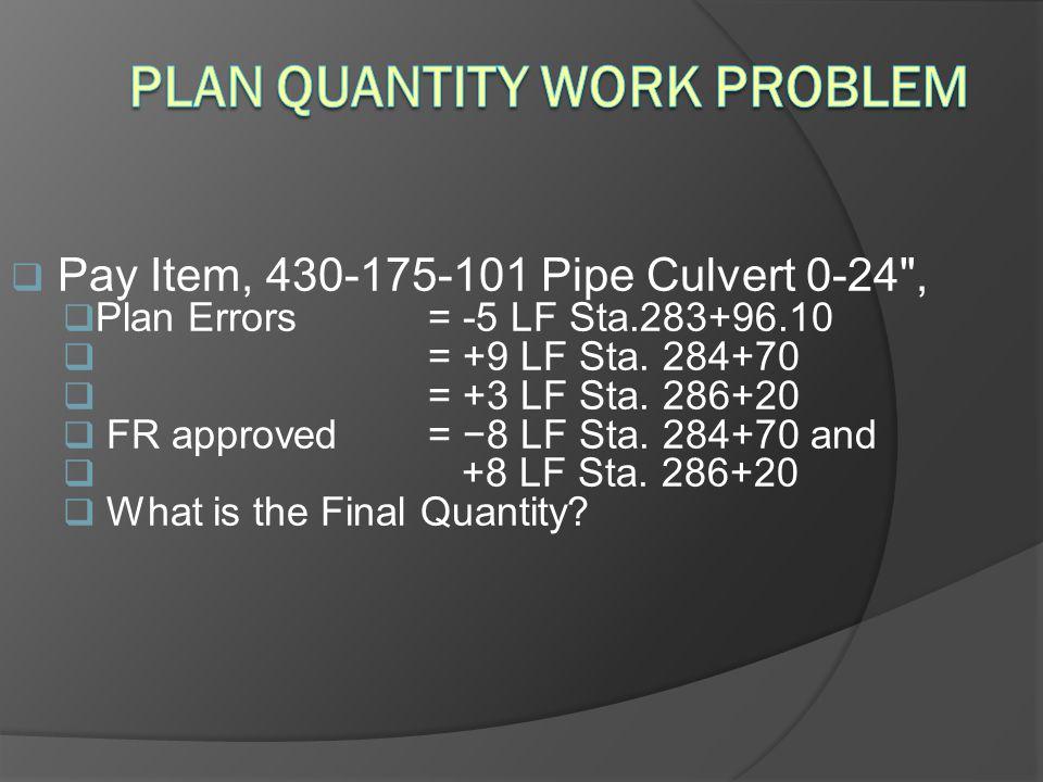 Plan Quantity Work Problem